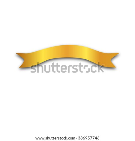 The gold tape in white background. Vector. - stock vector