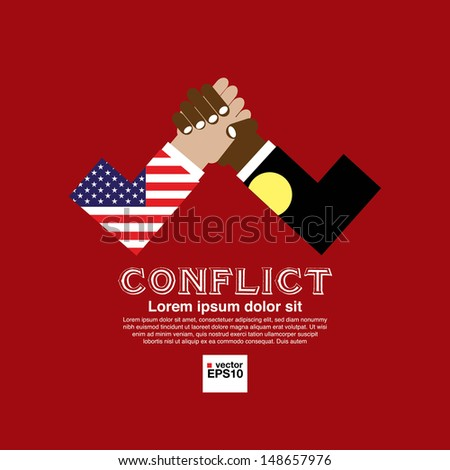 The opposition abstract conceptual illustration vector.EPS10 - stock vector