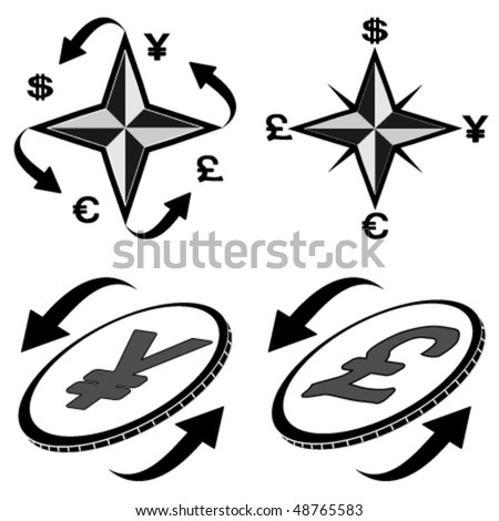 The vector  image icons financial symbols - stock vector