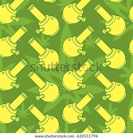 4:20 theme. Vector seamless pattern. EPS 10.