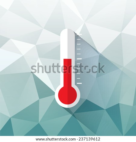 thermometer symbol - stock vector