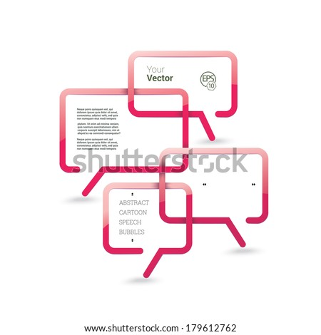 Three dimensional clean designed bubble speech object in geometric origami style - stock vector