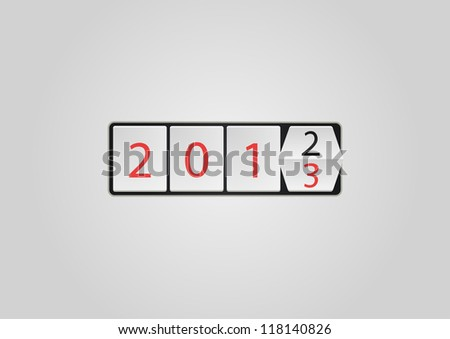 2013 ticker vector illustration