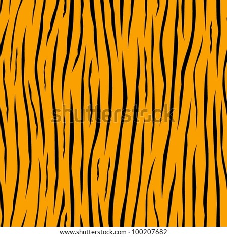 Tiger skin. Abstract yellow seamless pattern. - stock vector