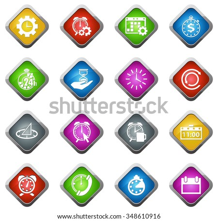 Time glossy web icon set