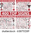 400 top signs. vector - stock photo