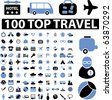 100 top travel signs. vector - stock vector