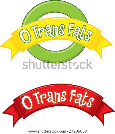 0 Trans Fats flashes - stock vector