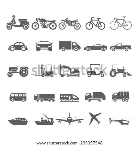 Transportation icon set.vector - stock vector