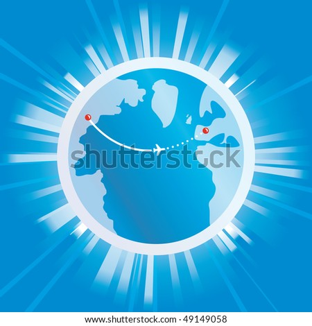 travel - stock vector