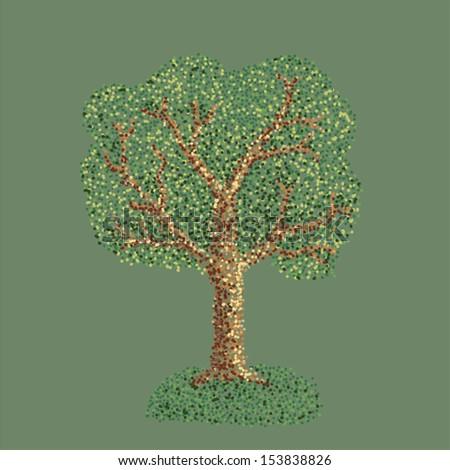 tree point - stock vector