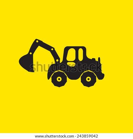 truck icon or logo  - stock vector