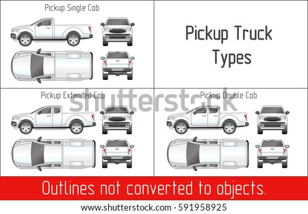 Truck pickup types template blueprint drawing stock vector truck pickup types template blueprint drawing stock vector 591958925 shutterstock malvernweather Image collections