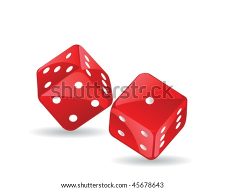 two vector dices - stock vector