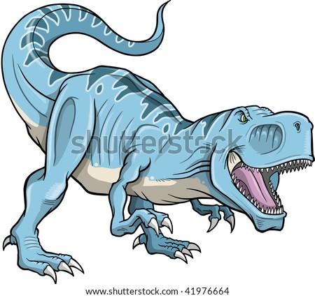 Tyrannosaurus Dinosaur Vector Illustration - stock vector