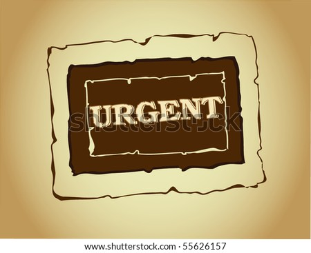 urgent grungy ink rubber stamp - stock vector