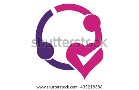Valentine Love Couple  - stock vector