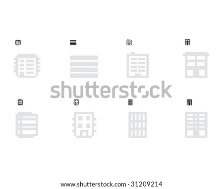 8 variants of the homepage icon. - stock vector