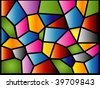 (Vector) A colourful modern stained glass design. A Jpg version is also available. - stock vector