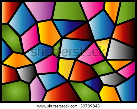 (Vector) A colourful modern stained glass design. A Jpg version is also available.