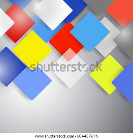 Vector abstract background with squares