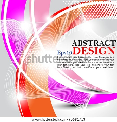 Vector abstract design with shine background.