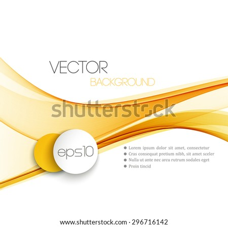 Vector Abstract  Orange curved lines background. Template brochure design.  - stock vector
