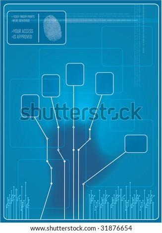 vector access control - stock vector