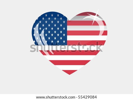 vector America_flag_EPS10 on white background - stock vector