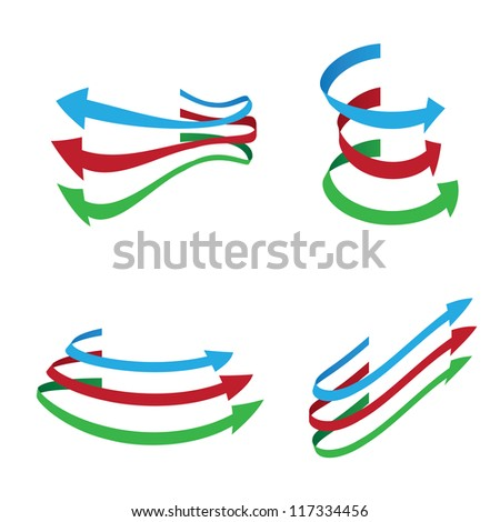Vector arrows on white background .EPS10 - stock vector