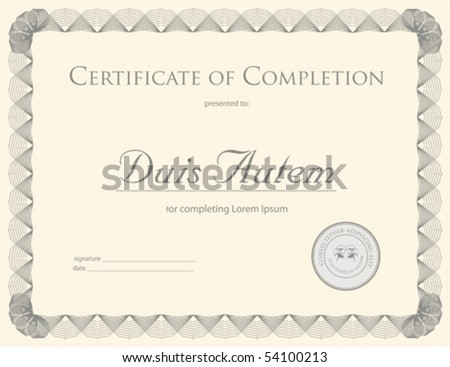 (vector) Award Certificate Template (a jpg is also available) - stock vector