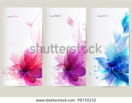 vector background with Flower . - stock vector