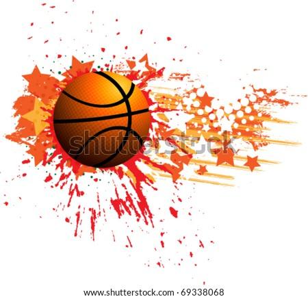 Vector basketball banner - stock vector