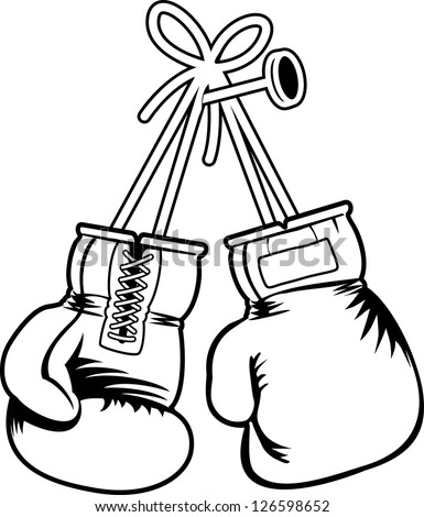 Vector Boxing Gloves Stock Vector 126598655 - Shutterstock