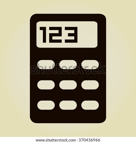 vector calculator icon vector calculator icon