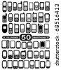 50 Vector Cellphones and Smartphones - stock photo