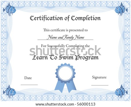 Certificate Of Completion Stock Images, Royalty-Free Images