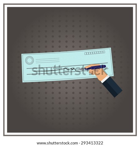 vector  check Business cheque icon money blank paper - stock vector