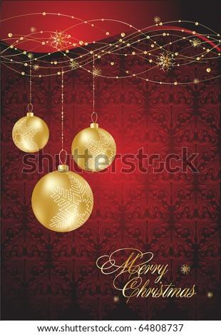 Vector christmas background. Christmas decoration. - stock vector