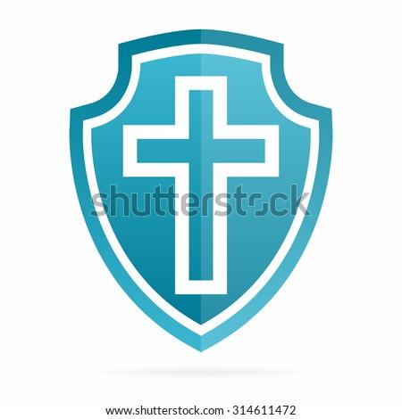 Vector church cross logo - stock vector