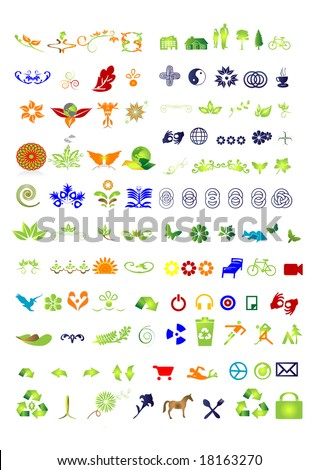 105 Vector  - collection - vector symbols-sign - stock vector