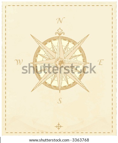 """Vector Compass. Great for any """"direction"""" you want to go...     Vector illustration. - stock vector"""