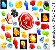 41 vector 3D symbols. - stock photo