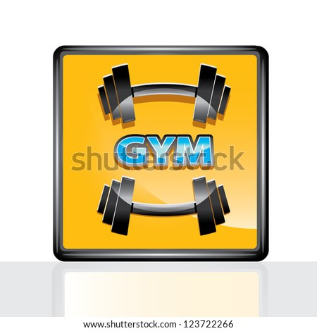 vector dumbbell icon. vector gym icon. symbol of sport and fitness. sport lifestyle vector image - stock vector
