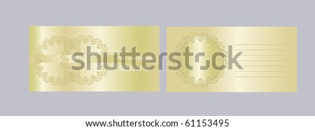 Vector envelope and Invitation  to the wedding - stock vector
