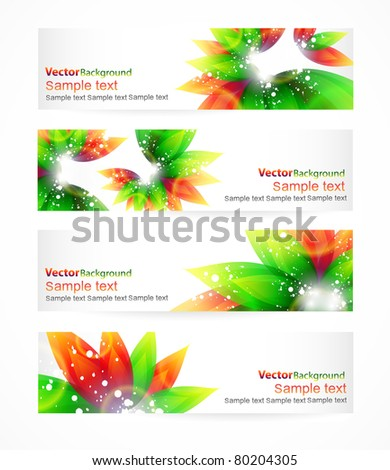 Vector eps10 headers with place for your text - stock vector