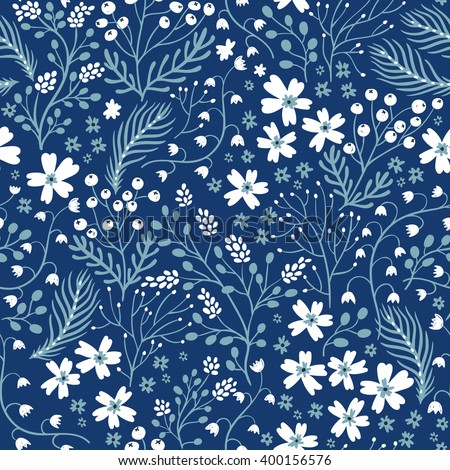 vector floral seamless pattern with