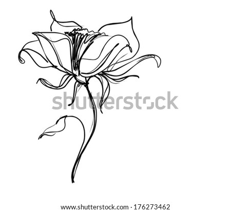 VECTOR    Flower background for design - stock vector
