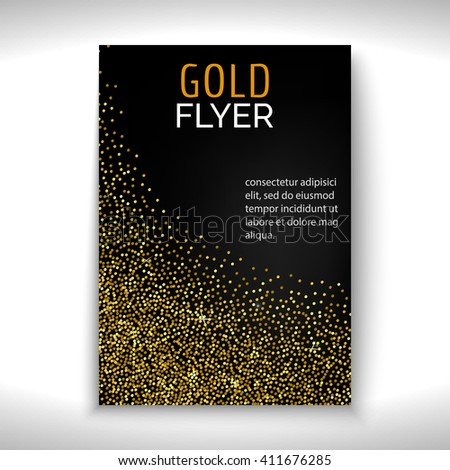 Vector Gold Dust Template Flyer Poster Stock Vector 411676285 ...