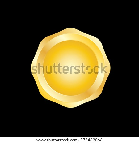 Vector Gold Seal . Stamp label - stock vector